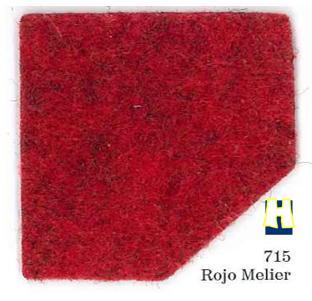 Moqueta ferial color Rojo Melier